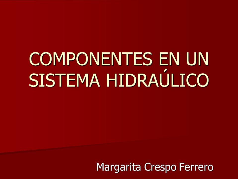 COMPONENTES EN UN SISTEMA HIDRAÚLICO Margarita Crespo Ferrero