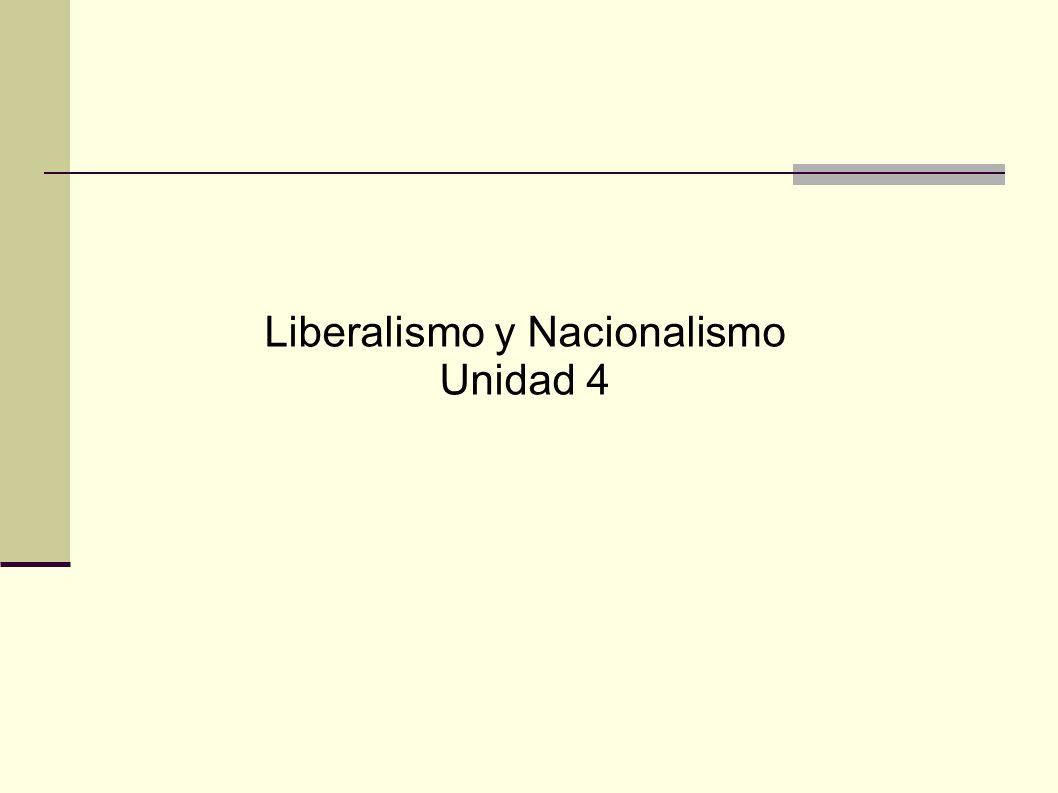 Liberalismo y Nacionalismo Unidad 4
