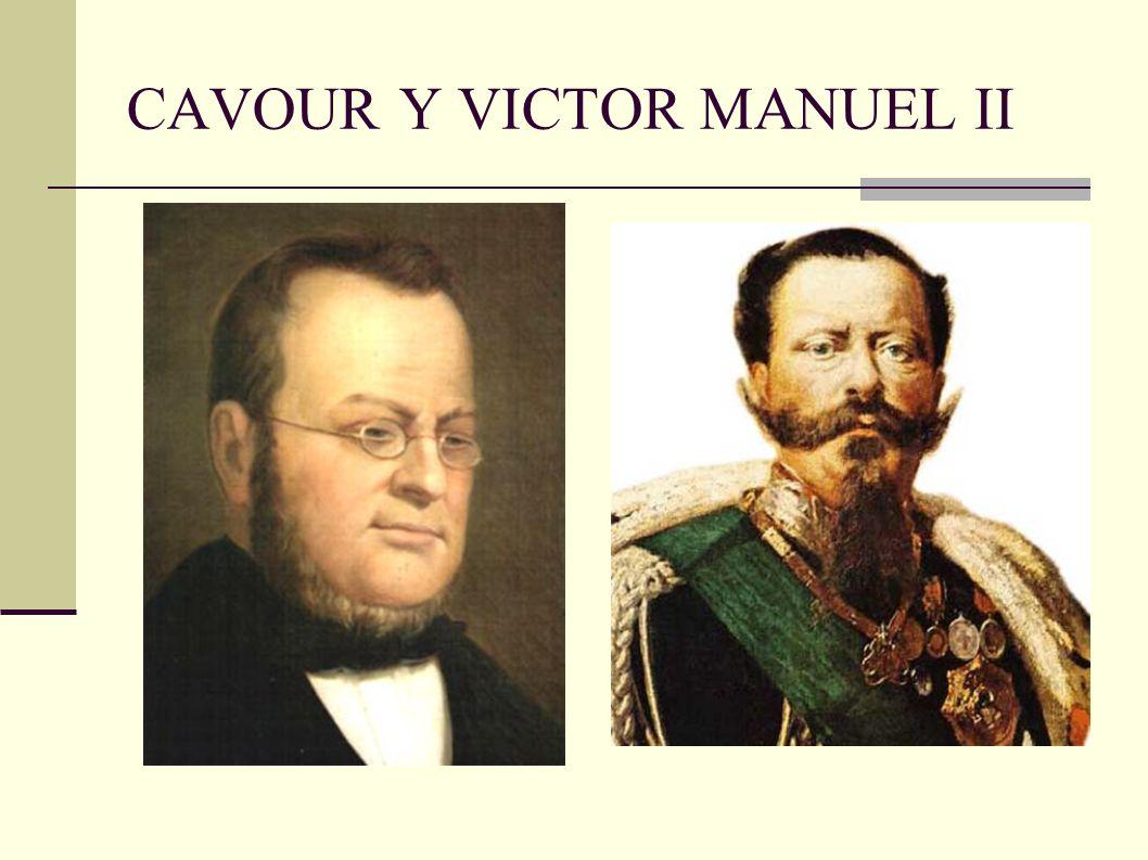 CAVOUR Y VICTOR MANUEL II