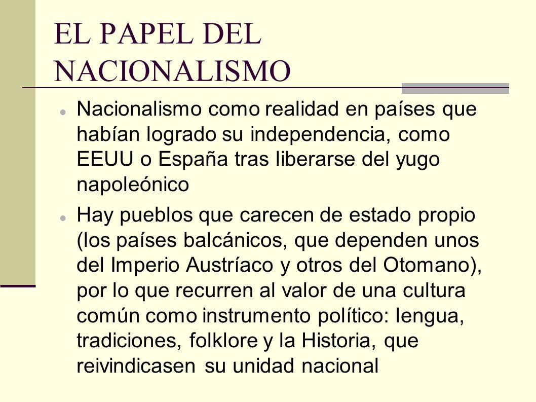 TIPOS DE NACIONALISMO DE FUERZA CENTRÍFUGA Disgregadora: en estados plurinacionales con pueblos con relevantes diferencias étnicas.