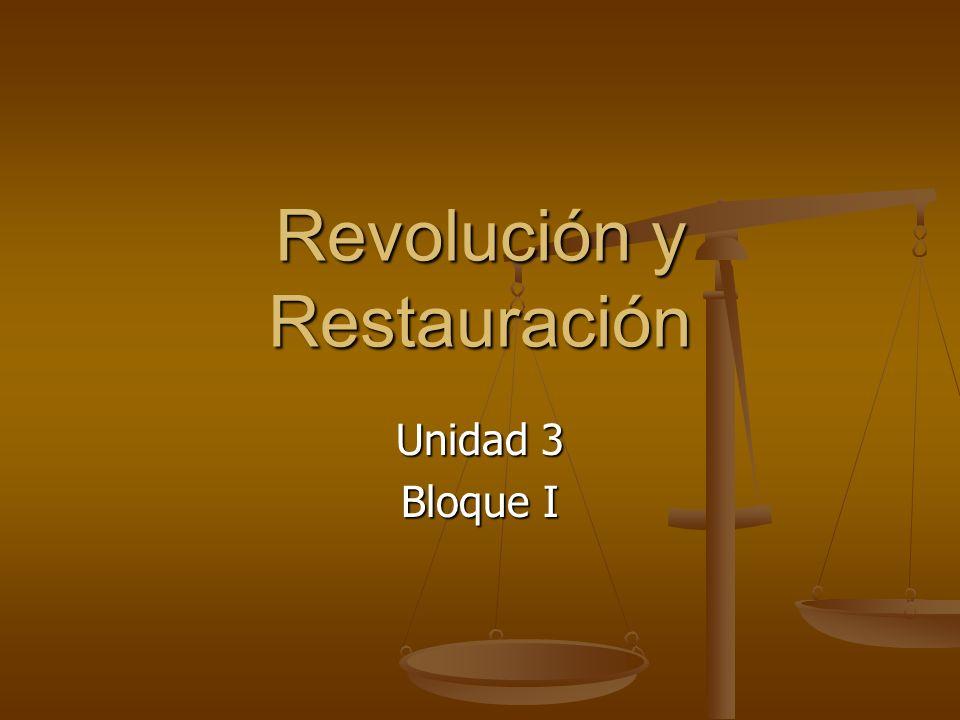 Revolución y Restauración Unidad 3 Bloque I