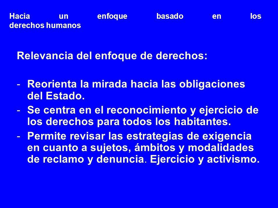Hacia un enfoque basado en los derechos humanos (cont.) Artículo 12 PIDESC 1.