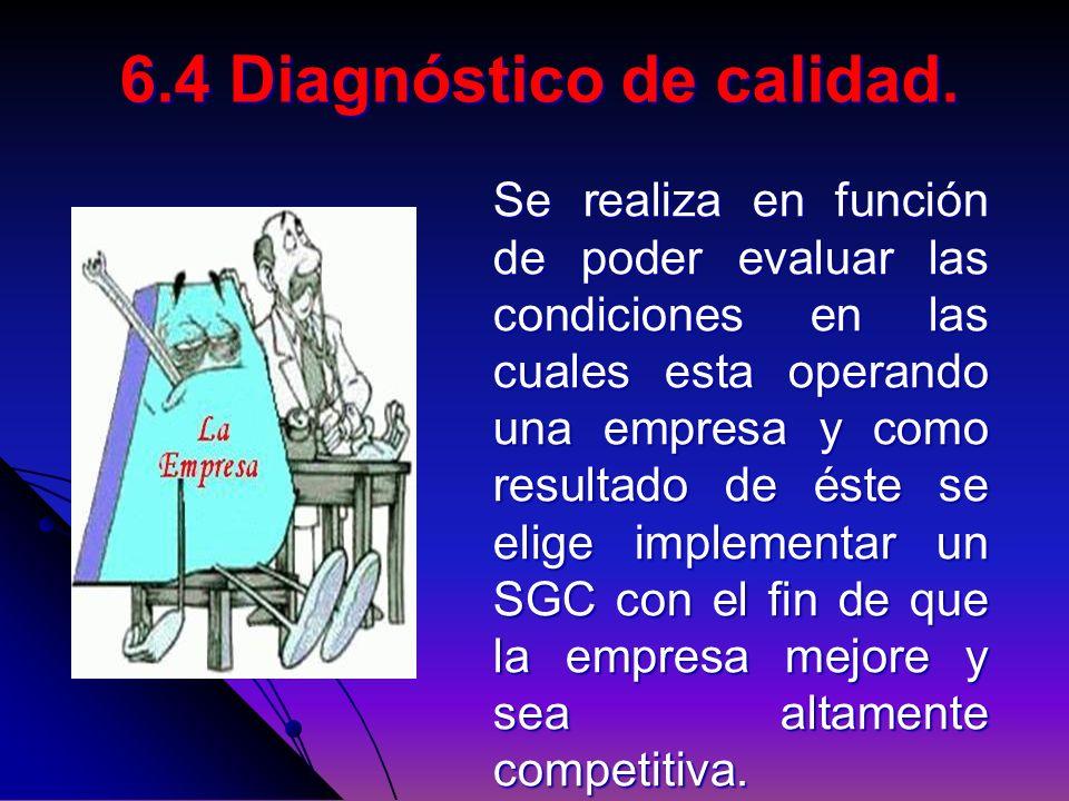 Se realiza en función de poder evaluar las condiciones en las cuales esta operando una empresa y como resultado de éste se elige implementar un SGC co