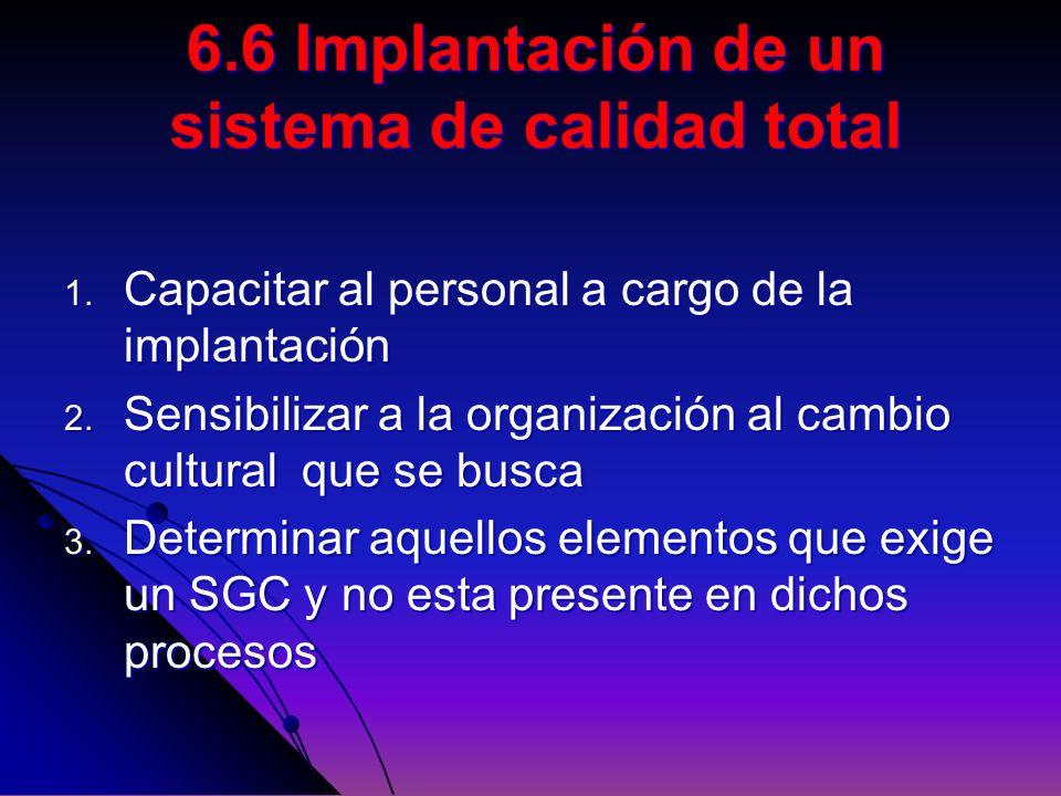 1. Capacitar al personal a cargo de la implantación 2. Sensibilizar a la organización al cambio cultural que se busca 3. Determinar aquellos elementos