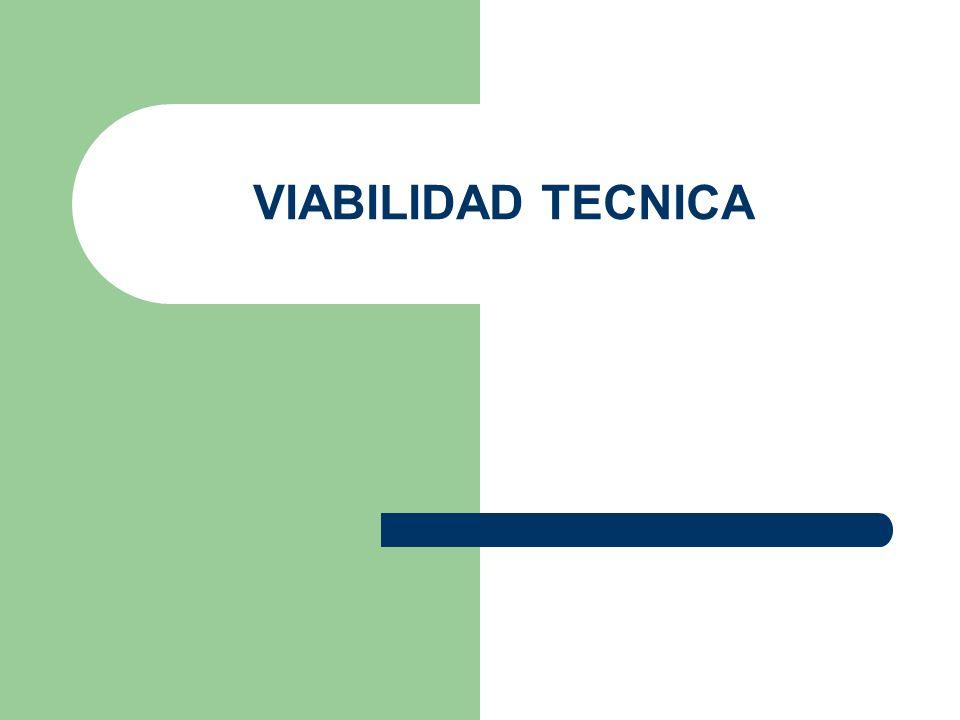 VIABILIDAD TECNICA