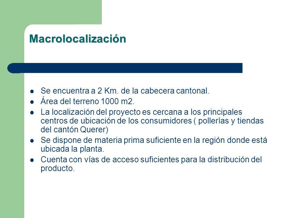 Macrolocalización Se encuentra a 2 Km. de la cabecera cantonal. Área del terreno 1000 m2. La localización del proyecto es cercana a los principales ce