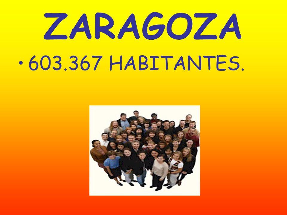 ZARAGOZA 603.367 HABITANTES.