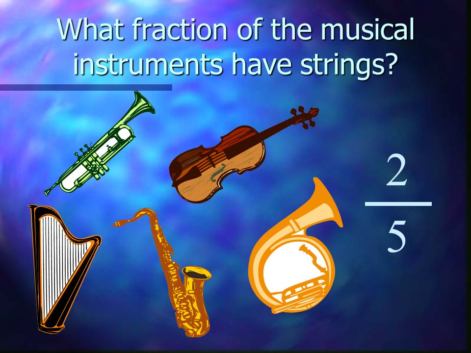 What fraction of the musical instruments have strings 2 5