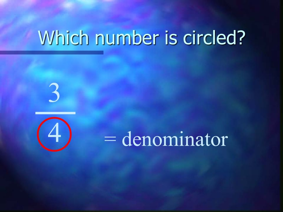 What fraction of the pie is purple? 4 4