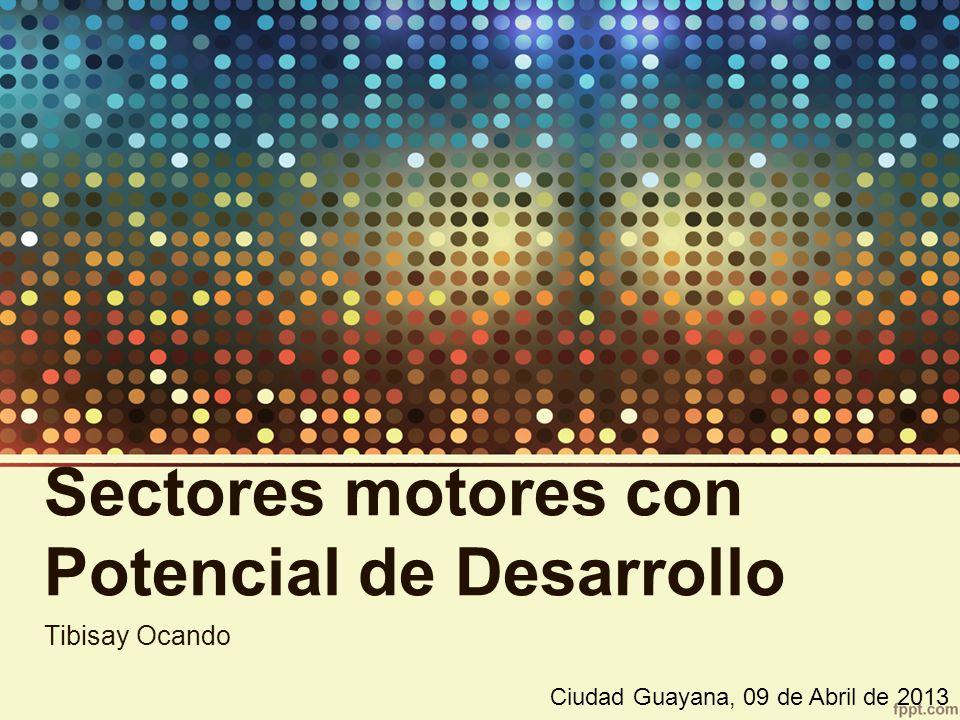 Sectores motores con Potencial de Desarrollo Tibisay Ocando Ciudad Guayana, 09 de Abril de 2013
