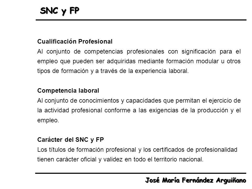 Cualificación Profesional Al conjunto de competencias profesionales con significación para el empleo que pueden ser adquiridas mediante formación modu