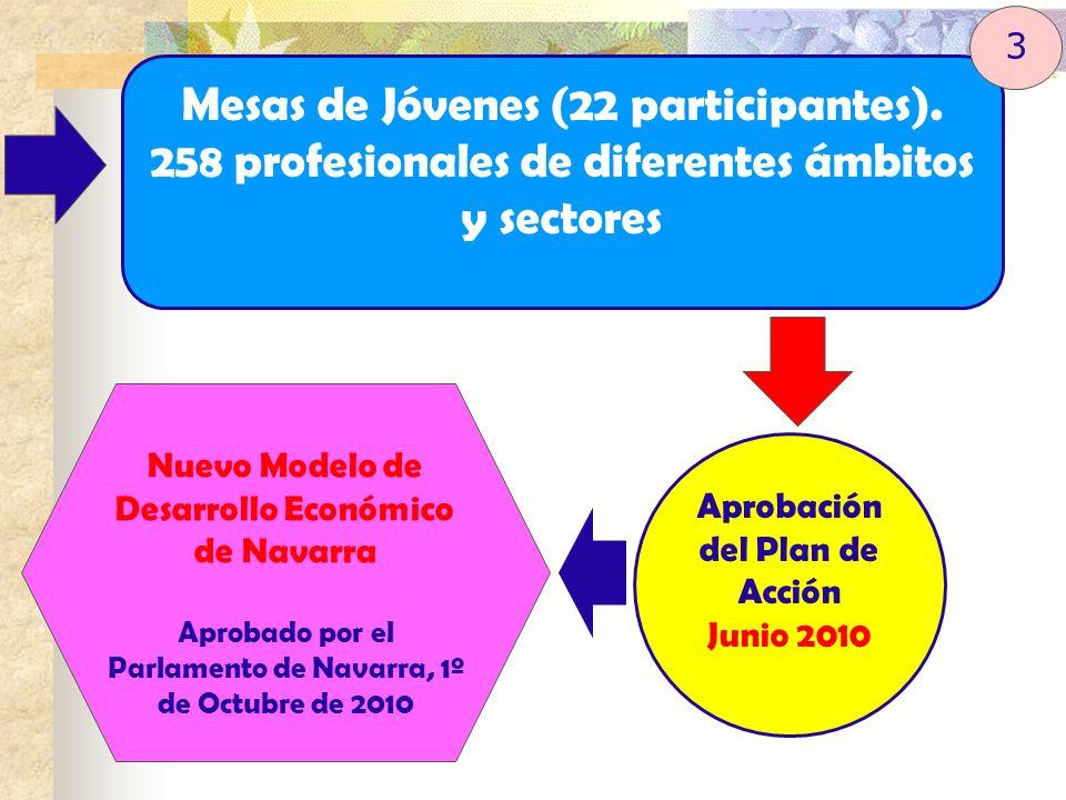Mesas de Jóvenes (22 participantes). 258 profesionales de diferentes ámbitos y sectores Aprobación del Plan de Acción Junio 2010 Nuevo Modelo de Desar
