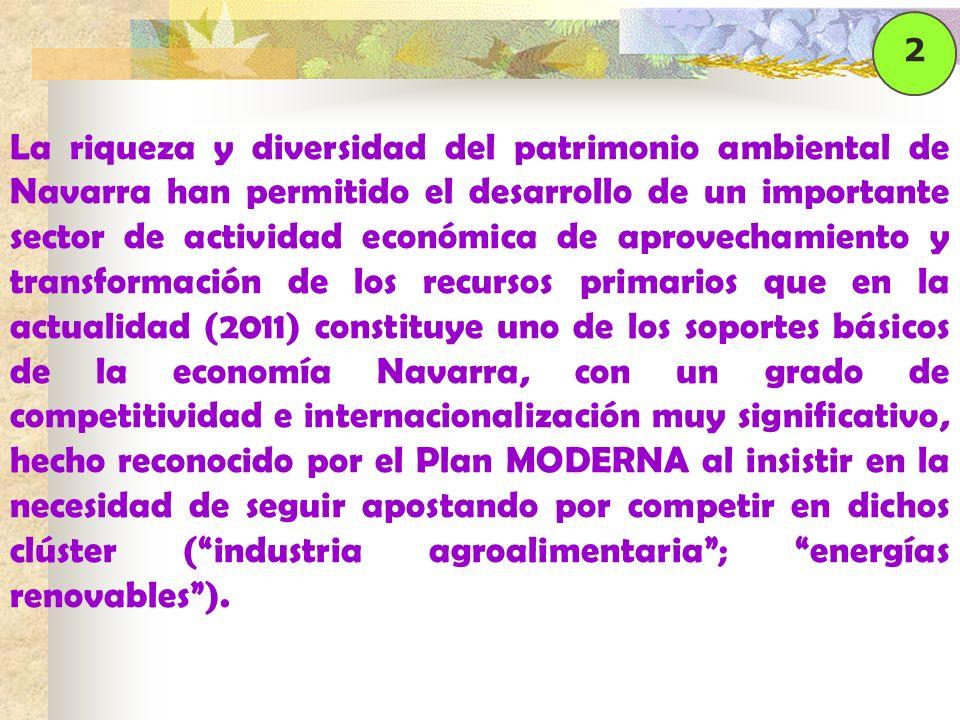 La riqueza y diversidad del patrimonio ambiental de Navarra han permitido el desarrollo de un importante sector de actividad económica de aprovechamie