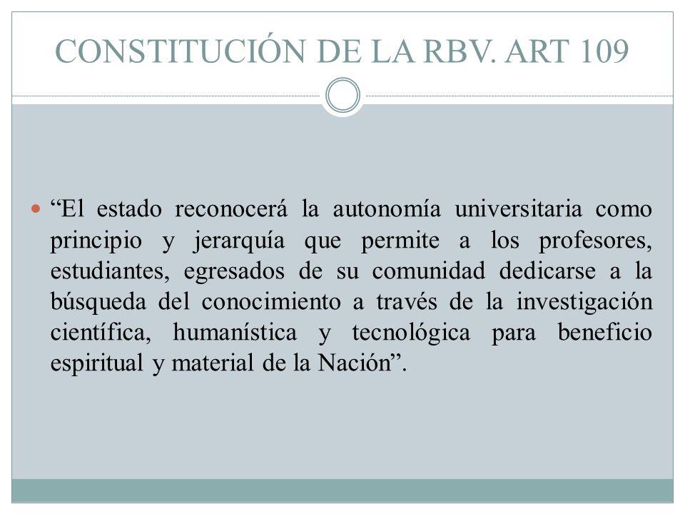 CONSTITUCIÓN DE LA RBV.