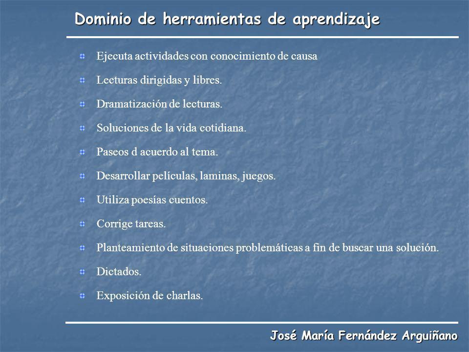 Dominio de herramientas de aprendizaje José María Fernández Arguiñano Ejecuta actividades con conocimiento de causa Lecturas dirigidas y libres. Drama