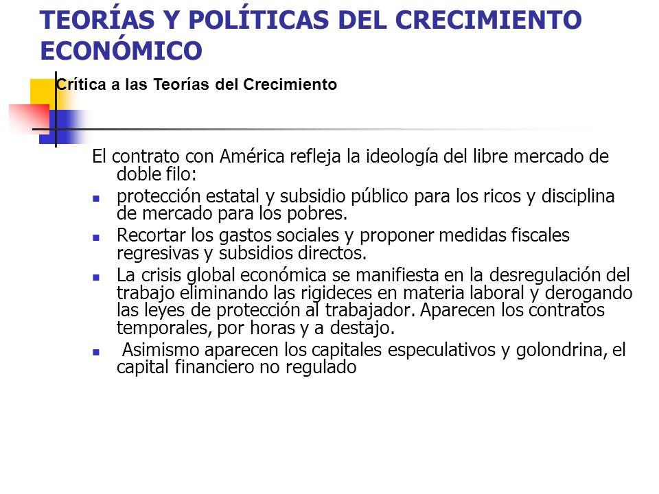 El contrato con América refleja la ideología del libre mercado de doble filo: protección estatal y subsidio público para los ricos y disciplina de mercado para los pobres.