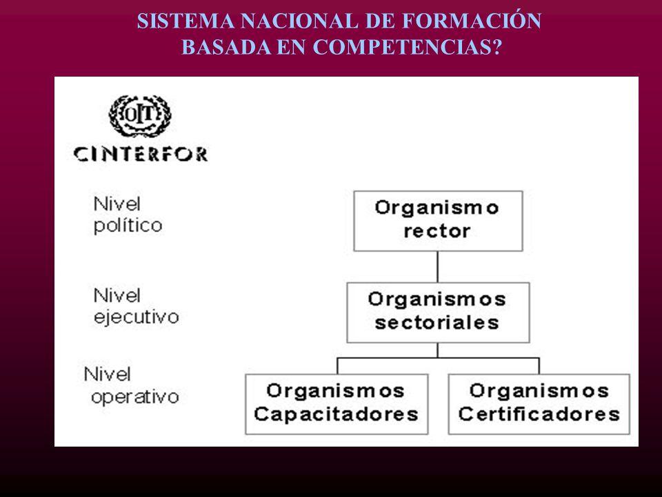 SISTEMA NACIONAL DE FORMACIÓN BASADA EN COMPETENCIAS?