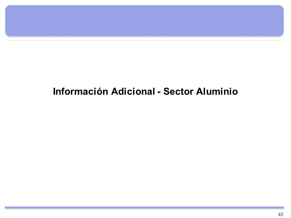 46 Información Adicional - Sector Aluminio