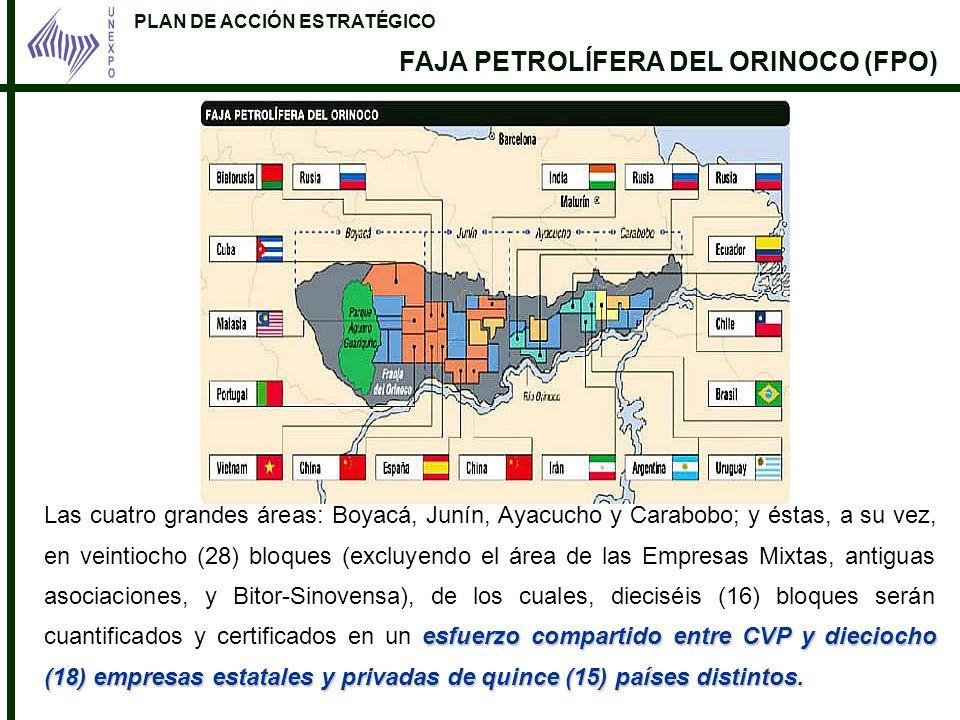 PLAN DE ACCIÓN ESTRATÉGICO FAJA PETROLÍFERA DEL ORINOCO (FPO) esfuerzo compartido entre CVP y dieciocho (18) empresas estatales y privadas de quince (