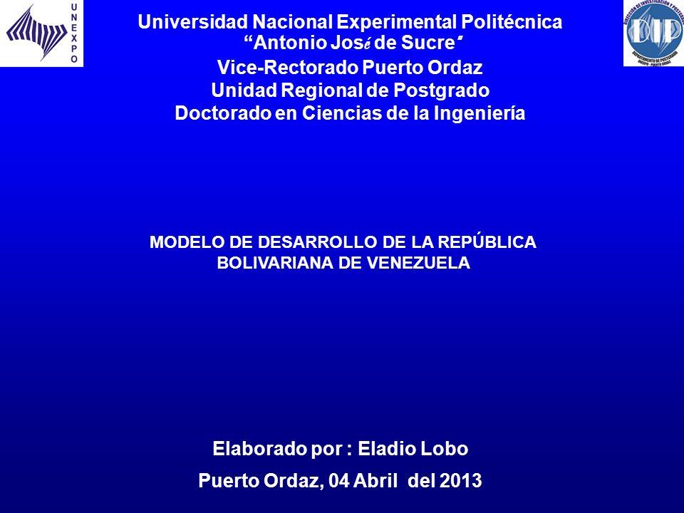 Elaborado por : Eladio Lobo Puerto Ordaz, 04 Abril del 2013 Universidad Nacional Experimental Politécnica Antonio Jos é de Sucre Vice-Rectorado Puerto