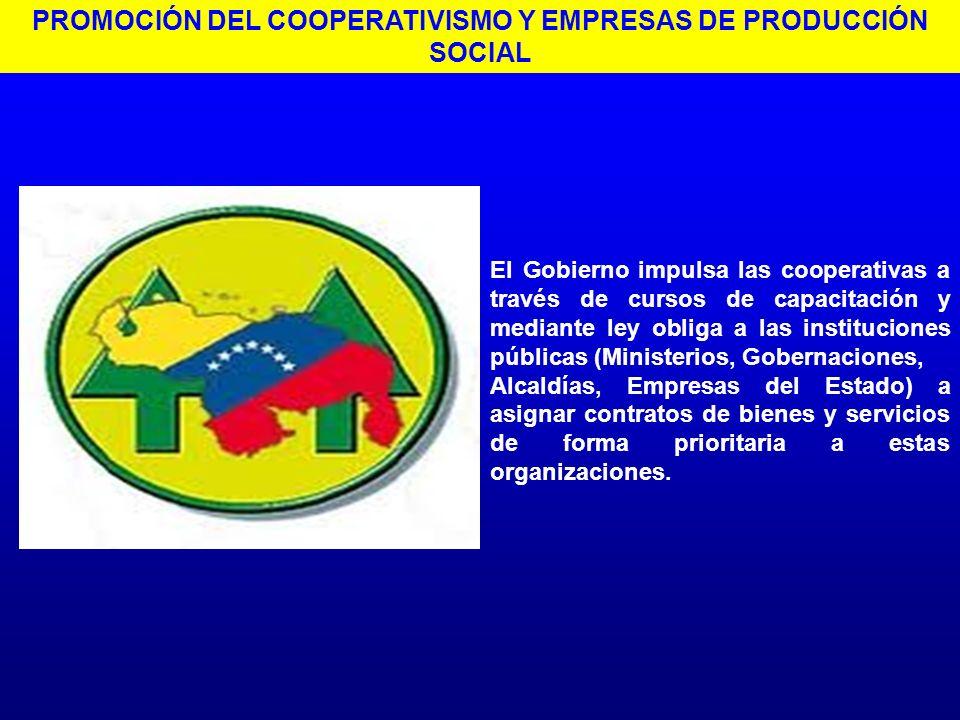 El Gobierno impulsa las cooperativas a través de cursos de capacitación y mediante ley obliga a las instituciones públicas (Ministerios, Gobernaciones