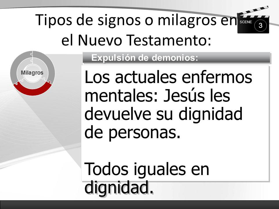 Expulsión de demonios: Los actuales enfermos mentales: Jesús les devuelve su dignidad de personas.
