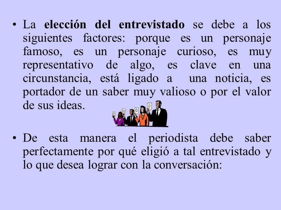 La entrevista política La entrevista política se distingue por ser fáctica, trata de hechos concreto y en un segundo nivel de reflexiones.
