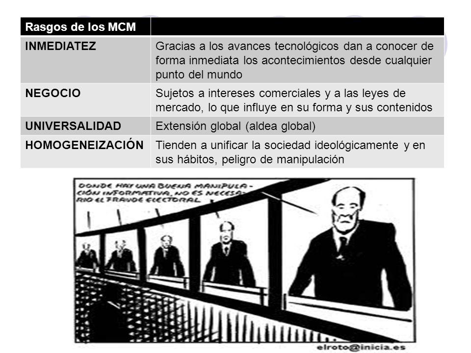 I. Los medios de comunicación de masas a)Concepto -Canales específicos por medio de los cuales se difunde todo tipo de informaciones sobre hechos de i