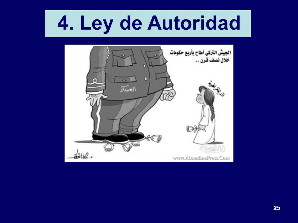 25 4. Ley de Autoridad