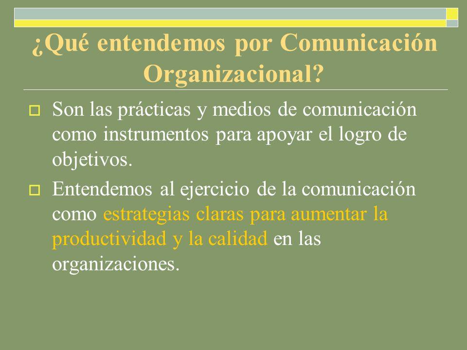 ¿Qué entendemos por Comunicación Organizacional.