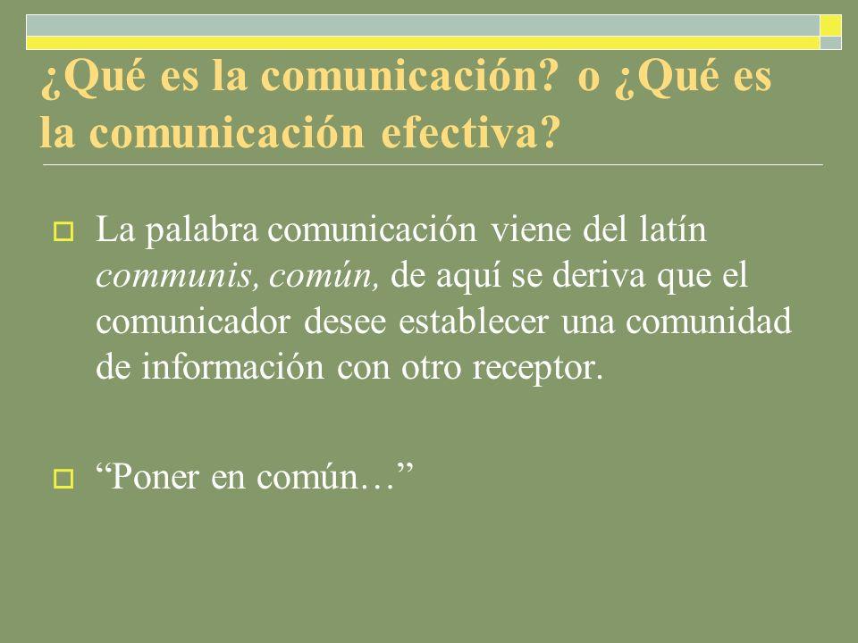 ¿Qué es la comunicación.o ¿Qué es la comunicación efectiva.