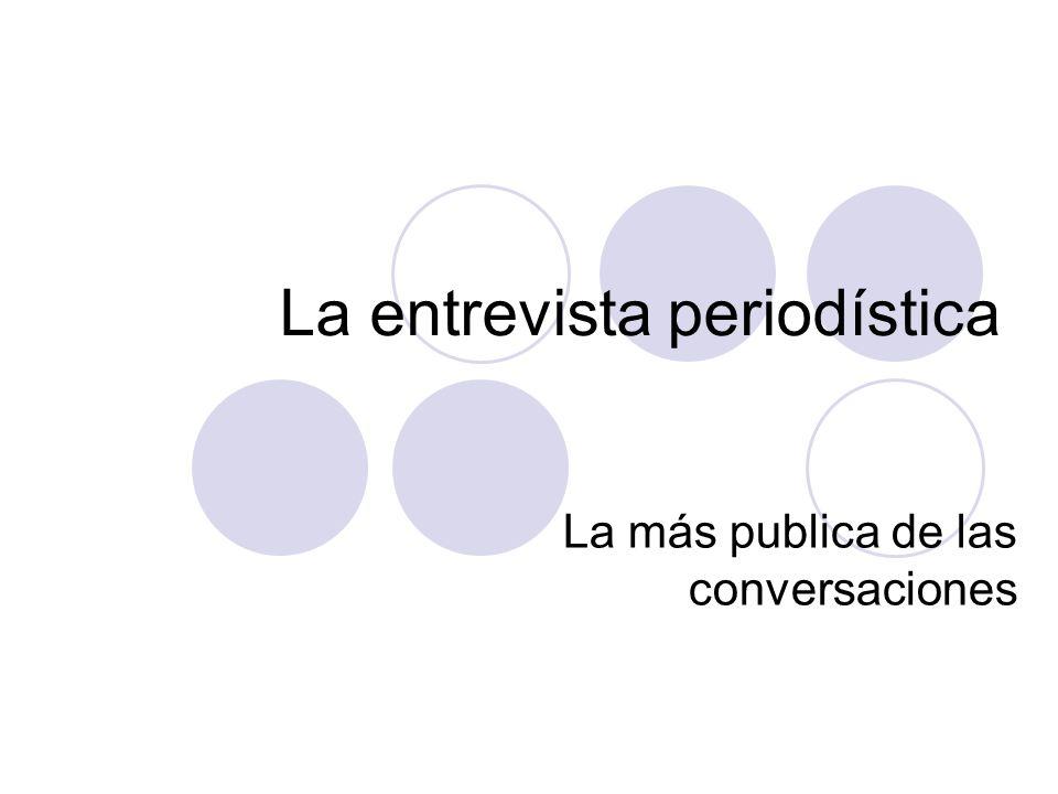La entrevista periodística La más publica de las conversaciones