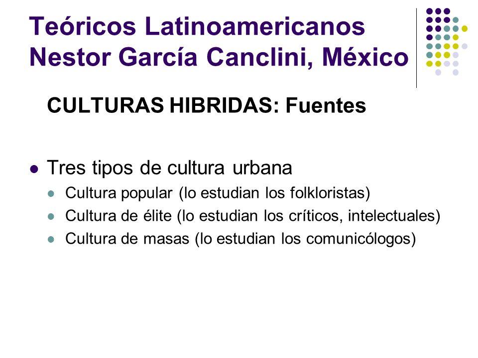 Teóricos Latinoamericanos Nestor García Canclini, México COMUNICACIÓN GLOBAL E IDENTIDAD ¿Esto pasa con signos globales.