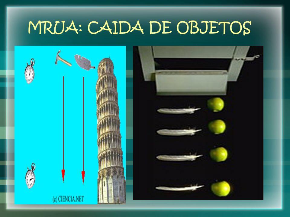 MRUA: CAIDA DE OBJETOS
