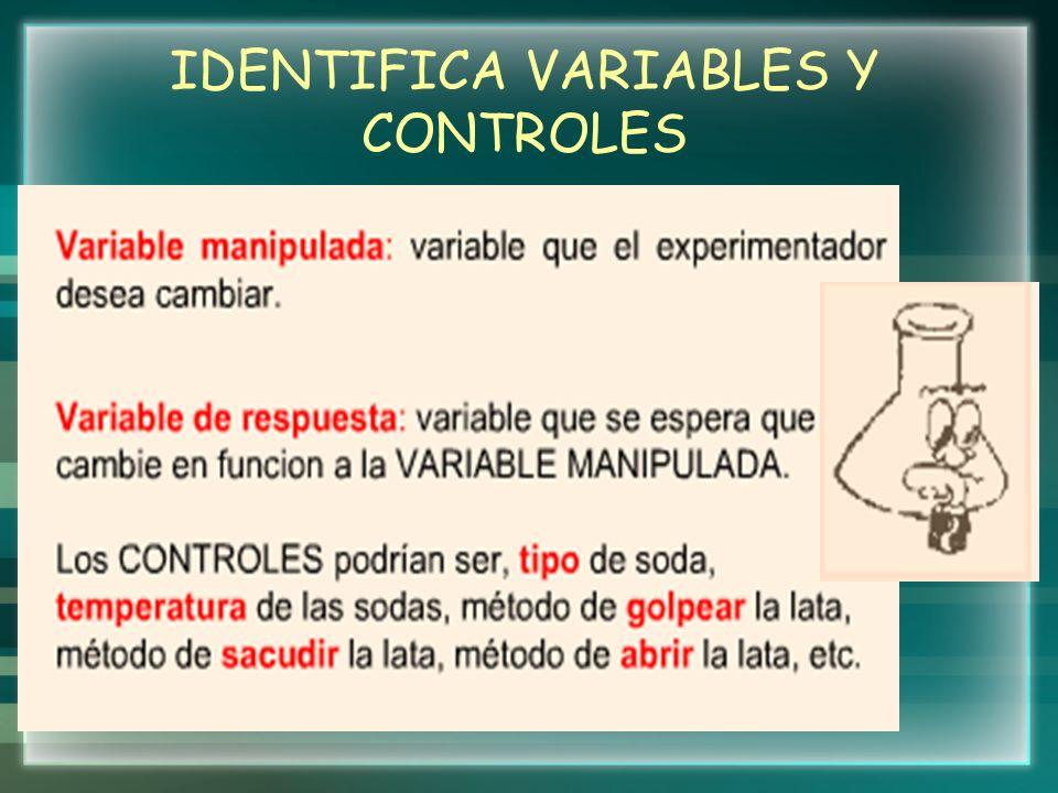 IDENTIFICA VARIABLES Y CONTROLES