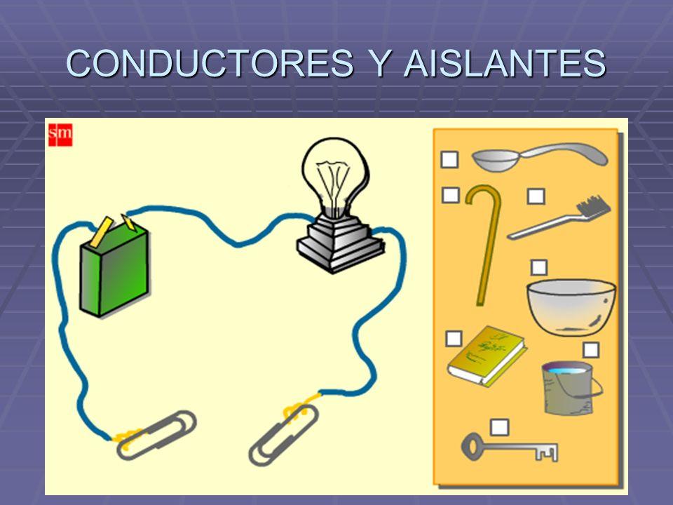 CONDUCTORES Y AISLANTES