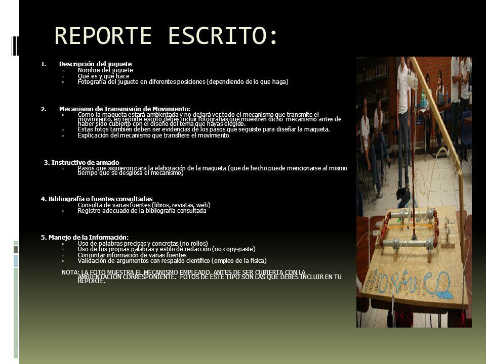 REPORTE ESCRITO: 1.