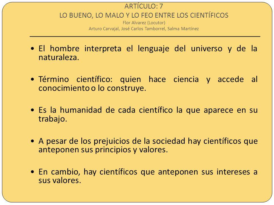 ARTÍCULO: 8 LAS PSEUDOCIENCIAS Alejandro Robredo (Locutor) Alan Aznar y Daniel Lima Los mentores solo enseñan lo que creen saber en vez de lo que la ciencia dicta.