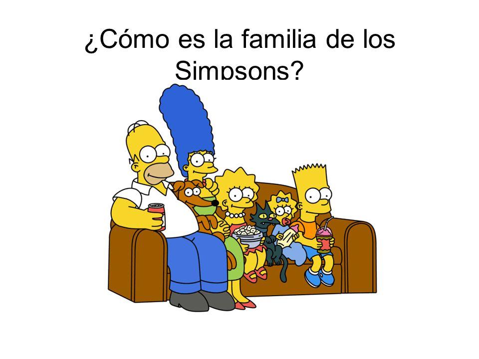 ¿Cómo es la familia de los Simpsons?