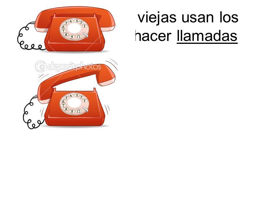 Las personas viejas usan los móviles para hacer llamadas