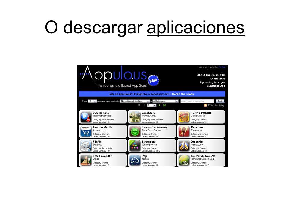 O descargar aplicaciones