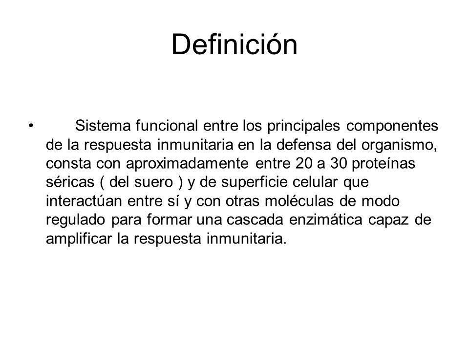 Definición Sistema funcional entre los principales componentes de la respuesta inmunitaria en la defensa del organismo, consta con aproximadamente ent