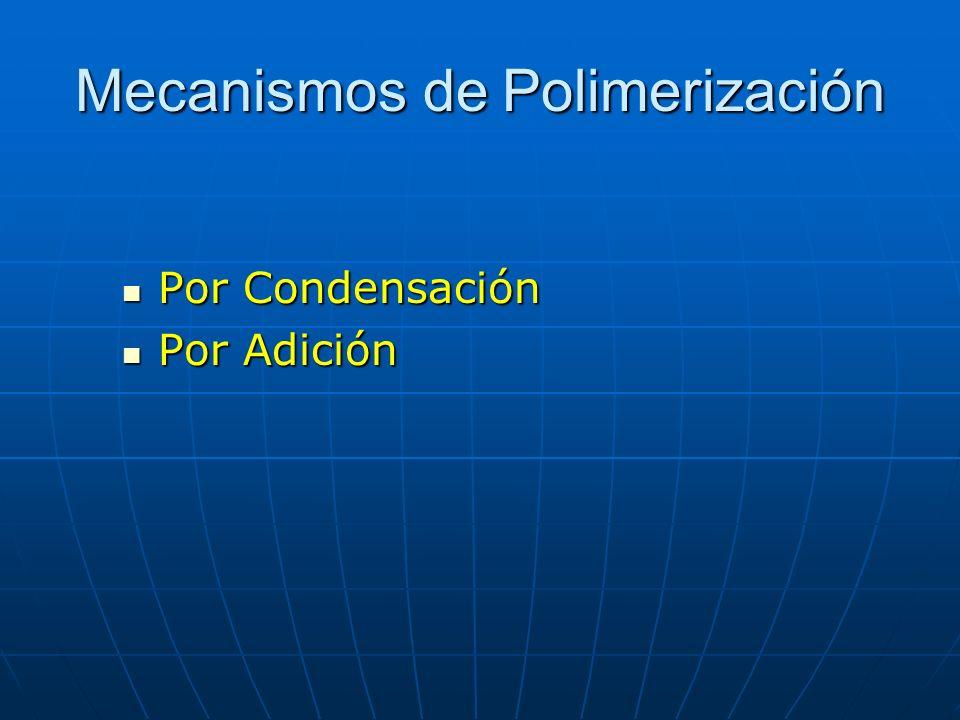 Mecanismos de Polimerización Por Condensación Por Condensación Por Adición Por Adición