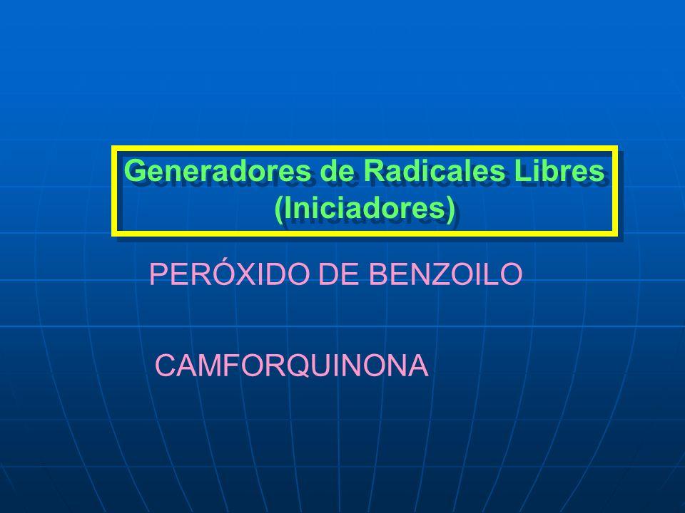 Generadores de Radicales Libres (Iniciadores) PERÓXIDO DE BENZOILO CAMFORQUINONA