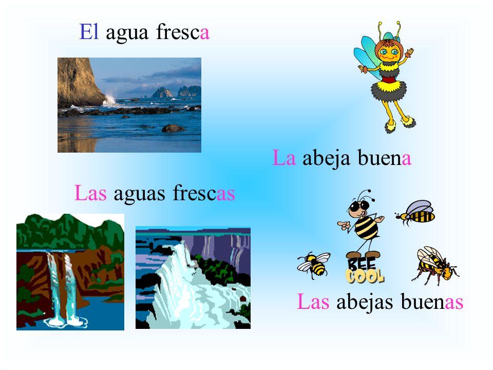 La abeja buena Las abejas buenas El agua fresca Las aguas frescas