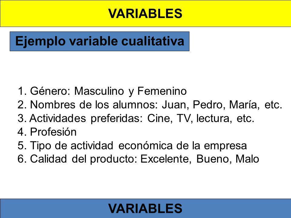 Según carácter de las escalas Se pueden distinguir las variables 1.