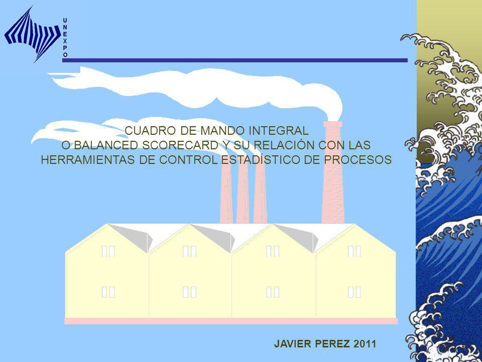 CUADRO DE MANDO INTEGRAL O BALANCED SCORECARD Y SU RELACIÓN CON LAS HERRAMIENTAS DE CONTROL ESTADÍSTICO DE PROCESOS JAVIER PEREZ 2011