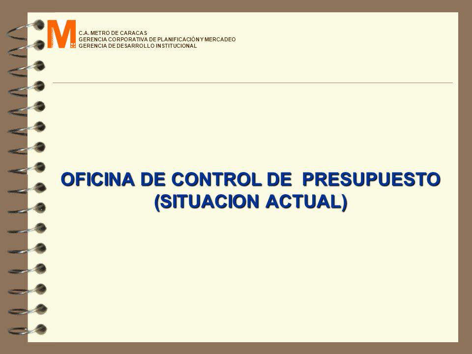 C.A. METRO DE CARACAS GERENCIA CORPORATIVA DE PLANIFICACIÓN Y MERCADEO GERENCIA DE DESARROLLO INSTITUCIONAL OFICINA DE CONTROL DE PRESUPUESTO (SITUACI