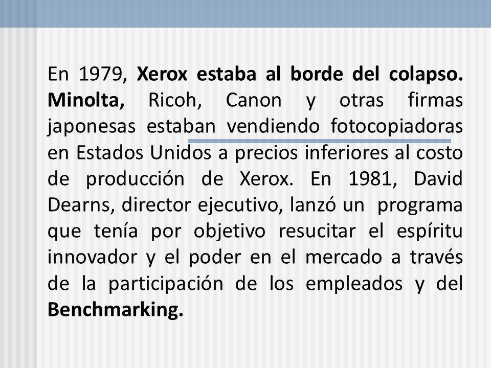 En 1979, Xerox estaba al borde del colapso. Minolta, Ricoh, Canon y otras firmas japonesas estaban vendiendo fotocopiadoras en Estados Unidos a precio