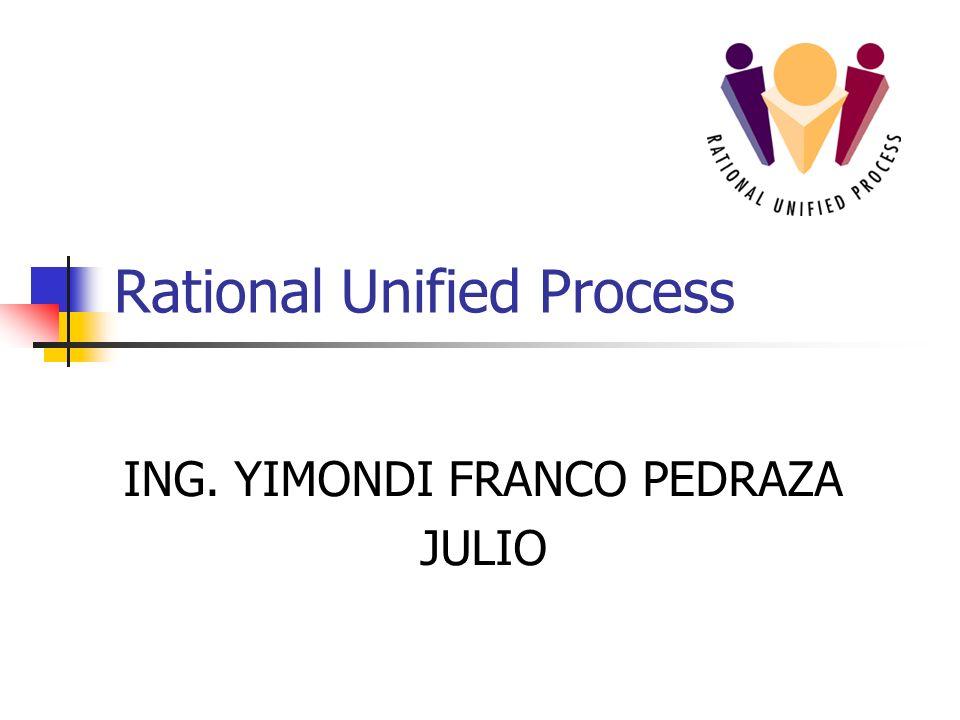 Rational Unified Process ING. YIMONDI FRANCO PEDRAZA JULIO